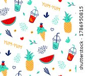 trendy cool seamless pattern... | Shutterstock .eps vector #1786950815