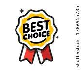 best choice badge. satisfaction ...   Shutterstock .eps vector #1786955735