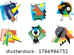 Cute Abstract Critters Vector...