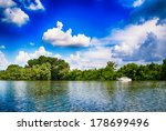 white boat on the danube river | Shutterstock . vector #178699496