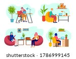 office people  business at work ... | Shutterstock .eps vector #1786999145