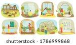 urban gardening  plants and... | Shutterstock .eps vector #1786999868