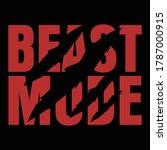Beast Mode Gym Fitness T Shirt...