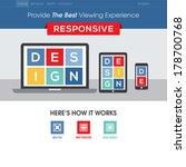 responsive design website... | Shutterstock .eps vector #178700768