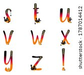 lowercase abc letters.... | Shutterstock .eps vector #1787014412
