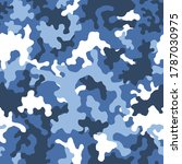 military blue camouflage  war... | Shutterstock .eps vector #1787030975