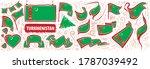 vector set of the national flag ... | Shutterstock .eps vector #1787039492