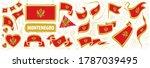 vector set of the national flag ... | Shutterstock .eps vector #1787039495