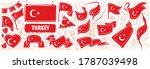 vector set of the national flag ... | Shutterstock .eps vector #1787039498