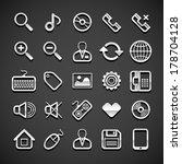 flat metallic universal icons... | Shutterstock .eps vector #178704128