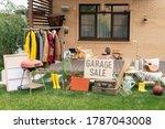 Garage sale in backyard ...