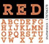 vector font with bulbs. | Shutterstock .eps vector #178706378