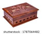 Wooden Closed Carved Casket...