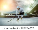 ice hockey player on the ice.... | Shutterstock . vector #178706696