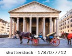 Horse Carriage At The Pantheon...