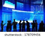 silhouette of stock market... | Shutterstock . vector #178709456
