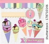 ice cream shop collection | Shutterstock .eps vector #178710146