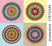 colorful circle indian pattern... | Shutterstock .eps vector #178710185