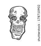sketchy skull  | Shutterstock . vector #178710902