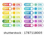 on and off icons collection.... | Shutterstock .eps vector #1787118005
