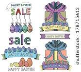 easter sale elements | Shutterstock .eps vector #178715612