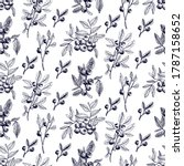 blueberry vector seamless... | Shutterstock .eps vector #1787158652