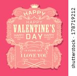 happy valentines day cards with ... | Shutterstock .eps vector #178719212