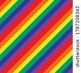 rainbow diagonal striped... | Shutterstock .eps vector #1787208365