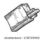 sketchy cigarette pack  | Shutterstock . vector #178729442