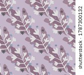 botanic seamless doodle pattern ... | Shutterstock .eps vector #1787300132