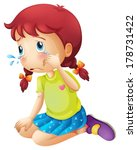 alone,blue,cartoon,child,clip-art,clipart,cry,daughter,depress,depression,down,drawing,female,girl,graphic