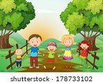 illustration of a happy family... | Shutterstock .eps vector #178733102