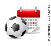 Icon Of Football And Calendar...