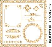 vintage set. floral elements... | Shutterstock .eps vector #1787351498