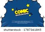pop art comic background with... | Shutterstock .eps vector #1787361845