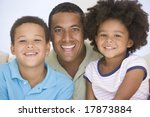 man and two young children... | Shutterstock . vector #17873884