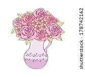 bouquet of roses. vector...   Shutterstock .eps vector #178742162