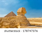 The Sphinx With Pyramid In...