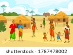 tribe ethnic people in africa...   Shutterstock .eps vector #1787478002
