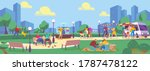 people in summer park flat... | Shutterstock .eps vector #1787478122