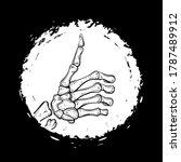 vector black and white skeleton ... | Shutterstock .eps vector #1787489912