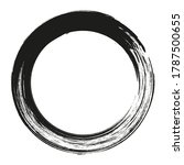 black abstract grunge circle.... | Shutterstock .eps vector #1787500655