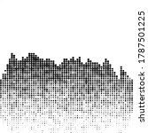 abstract futuristic halftone... | Shutterstock .eps vector #1787501225