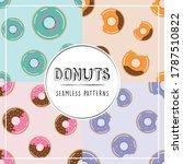 donuts illustration doughnuts... | Shutterstock .eps vector #1787510822