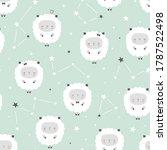 Seamless Pattern Sheep  Lambs ...
