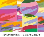 abstract collage asymmetric... | Shutterstock .eps vector #1787525075