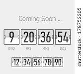flip coming soon  countdown... | Shutterstock .eps vector #178753205