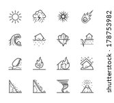 natural disaster icons | Shutterstock .eps vector #178753982