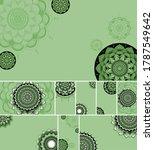 beautiful mandala design... | Shutterstock .eps vector #1787549642