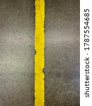 Vertical Yellow Taped Line On...